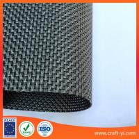 Wholesale Outdoor Fabrics - Sunbrella outdoor chair fabric in Textilene mesh fabricin black color from china suppliers