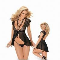 Wholesale Lingerie Corset, Includes G-string and Gloves, Available from XS to 4XL Sizes from china suppliers
