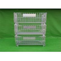 Wholesale Movable Stackable Steel Wire Mesh Cage With Galvanized Surface Treatment from china suppliers
