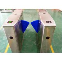 Wholesale Stainless Steel Flap Barrier Turnstile , Subway Half Height Turnstile Entrance Gate from china suppliers