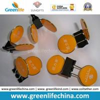 Wholesale Advertismental Paper Clips Round Yellow Panel Office Clips from china suppliers