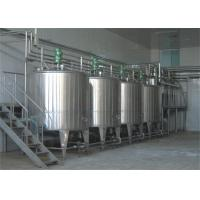 Wholesale Aseptic Pouch Packaged Milk Processing Machinery With Balance Tank And Beverage Pump from china suppliers