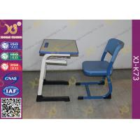 Wholesale Wooden Single And Double Student Desk And Chair Set Steel Frame from china suppliers