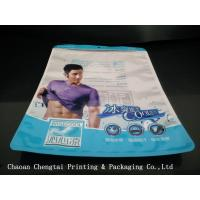 Wholesale Transparent Clothes Packaging Bags / Plastic Garment Underwear Pouch with Zipper from china suppliers