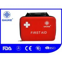 Wholesale High End Handled Medical First Aid Kit Case For Roadside Adhesive Plaster Included from china suppliers