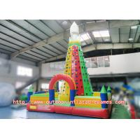 Wholesale Strong Kids Inflatable Climbing Wall , Inflatable Rock Climbing Wall For Backyard from china suppliers