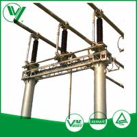 Wholesale Outdoor Mounted Three - poles High Voltage Disconnect Switch With Steel Base Plate 126KV from china suppliers