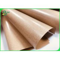 Buy cheap Brown Kraft Paper Coated With PE 80gsm + 15gpe Single Side Coated from wholesalers