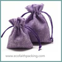 Wholesale jute drawstring jewelry bag, jute jewelry pouch bag, small jute bag from china suppliers