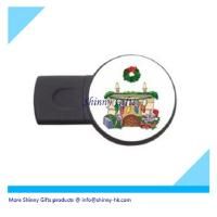China christmas usb driver with doming logo  on sale