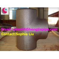 Quality Butt weld reducing tee/ pipe fittings manufacturer in China for sale