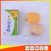 Wholesale Transparent Fruit Packaging Zip Top Freezer Bags Plastic HDPE / LDPE Material from china suppliers