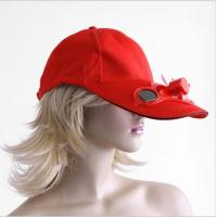 Wholesale 2014 Solar cooling fan caps and hats, Solar cap with fan solar energy from china suppliers