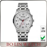 Wholesale Classic Style Chronograph Stainless Steel Watch Anti - Reflection Sapphire Glass from china suppliers