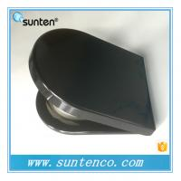 Wholesale One Push Button Duroplast Advanced Manufacturer D Shape Black Toilet Seat from china suppliers