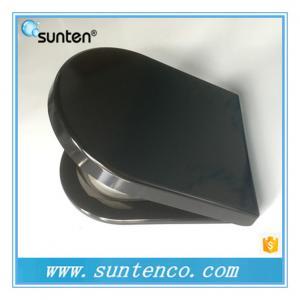 Quality European Standard Soft Close D Shape Black Toilet Seat Covers for sale