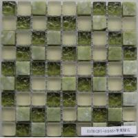 Wholesale Colorful Natural Stone Glass Mosaic Tile, Bathroom Crystal Glass Mosaic Tiles from china suppliers