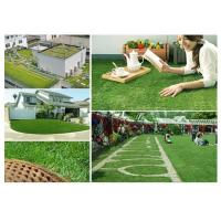 Wholesale C Shpaed Green Brown Landscape Artificial Grass For Residential Cole 35mm from china suppliers