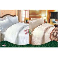 Wholesale OEM Beige / White Complete 100 % Cotton Hotel Bedding Sets from china suppliers