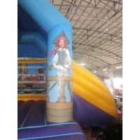 Wholesale Plato 0.55mm PVC Tarpaulin Bounce House Combo Commercial Grade from china suppliers