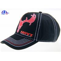 Wholesale 6 Panel Embroidered Custom Baseball Caps Washed and Breathable for Advertising from china suppliers