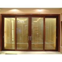 Wholesale 2.0mm profile thickness red sandalwood sound insulation aluminum sliding glass doors from china suppliers