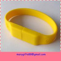 Wholesale Bulk cheap 4GB USB flash drives silicon USB bracelet from china suppliers