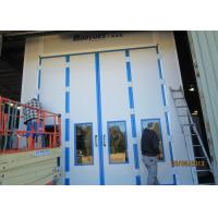 Quality 20 Meters Side Downdraft Paint Booth , Bus Spray Booth With Lifting Platform for sale