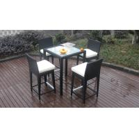 Wholesale Luxury All Weather Resin Wicker Bar Set For Home Patio / Balcony from china suppliers