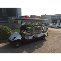 Wholesale White 6 Passenger Golf Carts , Electric Police Vehicles With Battery Operated from china suppliers