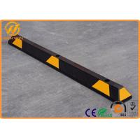 Wholesale Heavy Duty Rubber Wheel Stopper , Reflective Car Parking Automatic Wheel Chocks from china suppliers
