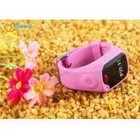 Wholesale Pink Color Wrist Kids GPS Tracking Watch Phone Support IOS / Android APP from china suppliers