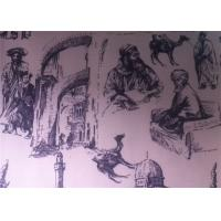 Wholesale Printed Polycotton Fabric Regenerated Fabric Charcoal Drawing from china suppliers