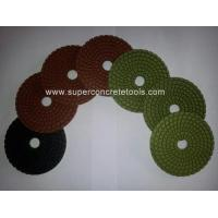 Wholesale Spiral Diamond Colorful Resin Wet Polishing Pads from china suppliers
