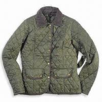 Wholesale Ladies' Quilted Jacket with Inner Zipped Pocket, Made of 100% Polyester from china suppliers