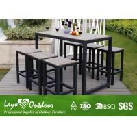 Wholesale Synthetic Wood Outdoor Furniture Faux Wood Patio Dining Set With Relax Style Bar And Stools Moisture - Proof from china suppliers