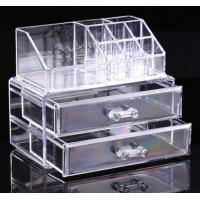 Wholesale Clear Cosmetic Jewellery Display Makeup Rack Organiser Box Case 2 Storage Drawer from china suppliers