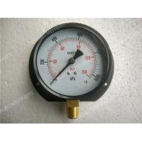 "Wholesale Steel Black Bottom Entry Dry Pressure Gauge with Flange 4"" ( 100mm ) from china suppliers"