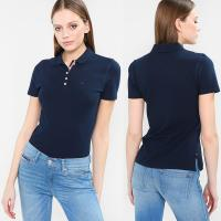 China Wholesale Summer Fashion Polo shirt Women Clothing Tops With Button on sale