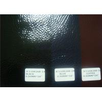 patent shiny pu leather with woven backing for bags