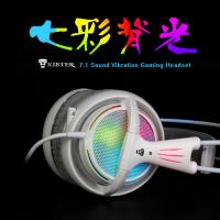 XIBTER Professional Gaming Headset 7.1 Surround Sound Emitting Vibration Function USB Headband Headphone For PC Netbook