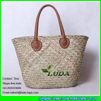 Wholesale LUDA handwoven seagrass straw beach bag natural straw totes from china suppliers