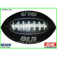 Wholesale Personalised Black Cool Rugby Ball With Logo Printed For Promotion from china suppliers