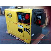Wholesale 8KVA Yellow Color Silent Type Small Diesel Generators Set With ATS , Low Oil Alarm System from china suppliers
