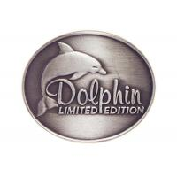 Wholesale Customized Antique Silver Plating Curved Dolphin Badge, Pewter Souvenir Badges for Mug from china suppliers