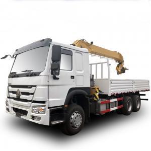 Wholesale Howo Sino 6x4 Cargo Crane Truck / 10 Ton  Telescopic Boom Truck Mounted Crane from china suppliers