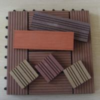 Wholesale Anti-slip Interlocking WPC DIY Tile Decking for Bathroom and Sunroom from china suppliers
