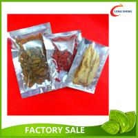 Wholesale Al Foil 3 Side Heat Seal Plastic Vacuum Food Storage Bags 0.08mm / 0.10mm from china suppliers
