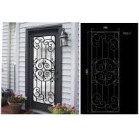 Wholesale Most Durable Agon Filled Wrought Iron Glass Doors 22*64 inch Size Shaped Crafted from china suppliers