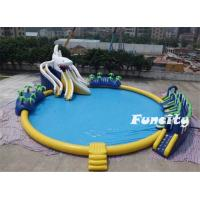 Wholesale Giant Mobile Inflatable Water Pool 30m 0.6mm PVC Tarpaulin from china suppliers
